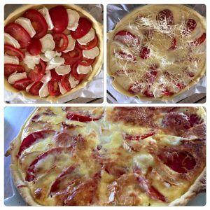 Tarte tomates et chèvres   Emilie cuisine et papote !