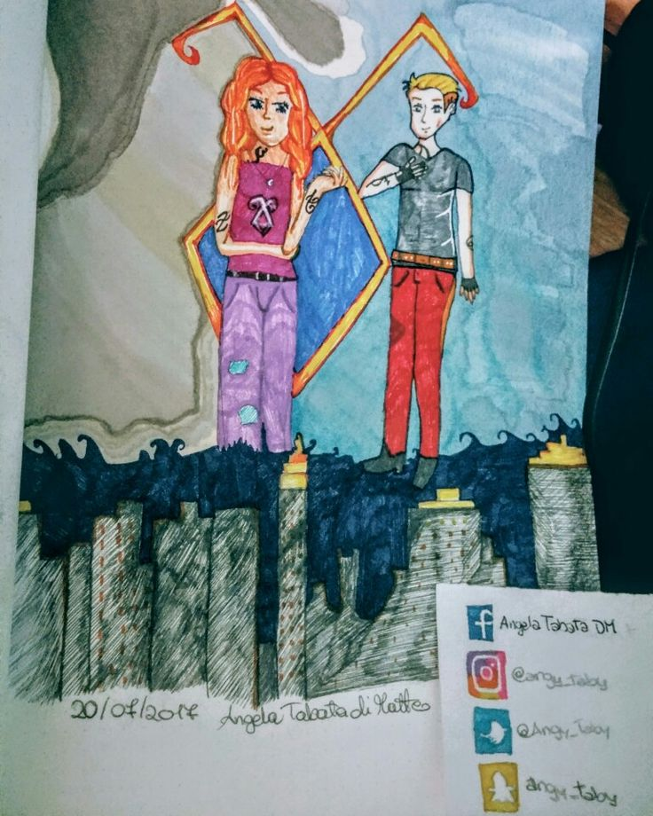 Shadowhunters Clary and Jace #drawing #illustration #fanart #drawingcelebs #shadowhuntersfanart