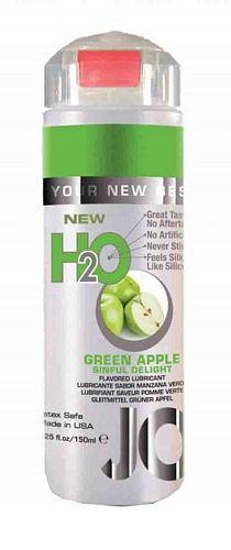 System Jo H2O Æble - Green Apple - 150 ml fra SystemJO - Sexlegetøj leveret for blot 29 kr. - 4ushop.dk - Vandbaseret glidecreme med æble smag, som har alle fordelene fra System JO personlige glidecremer. Samme følelse og viskositet, men alligevel indeholder den ingen olie, voks eller silikone.