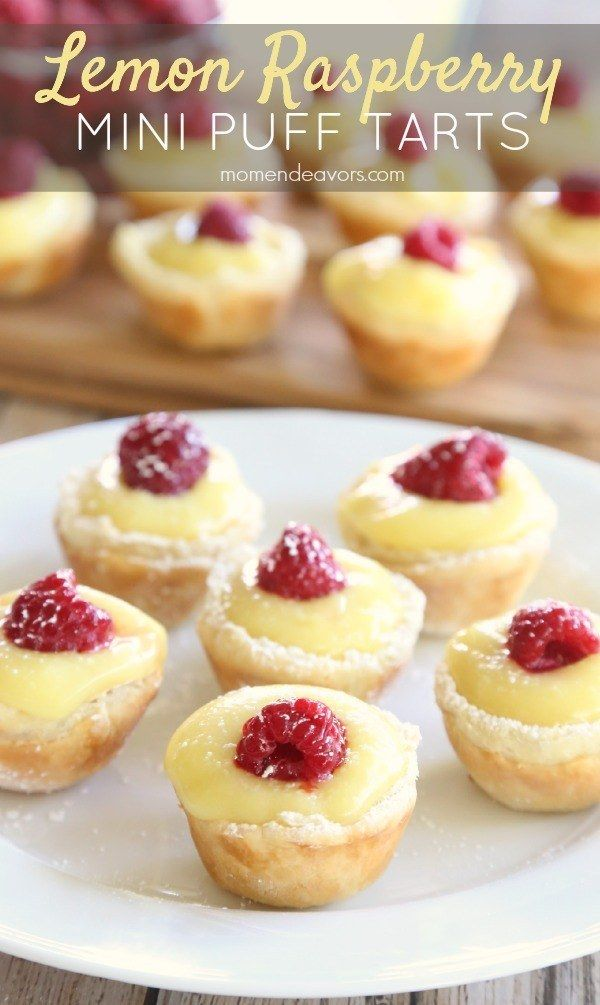 Lemon Raspberry Mini Puff Pastry Tarts | 21 Puff Pastry Recipes That Will Make Every Meal A Party