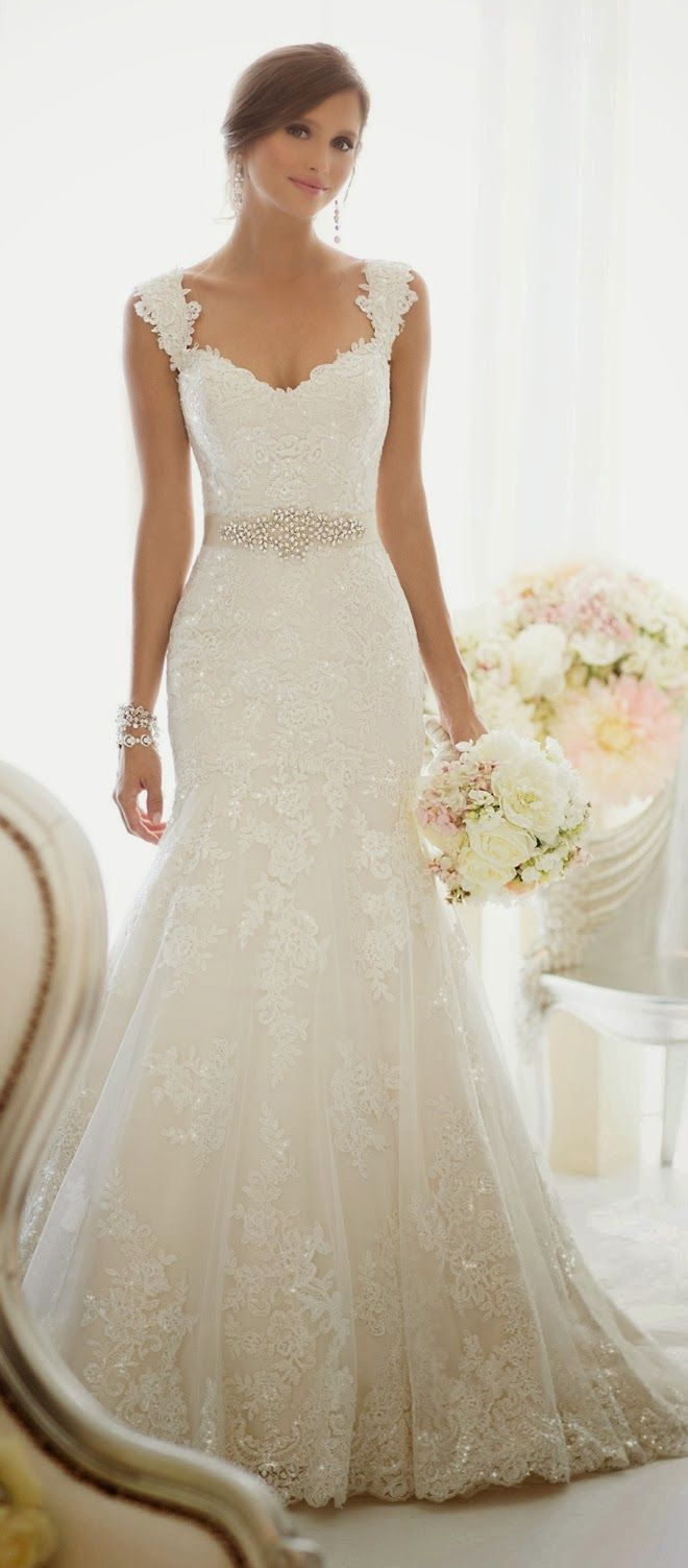 Wedding dress with gorgeous details.