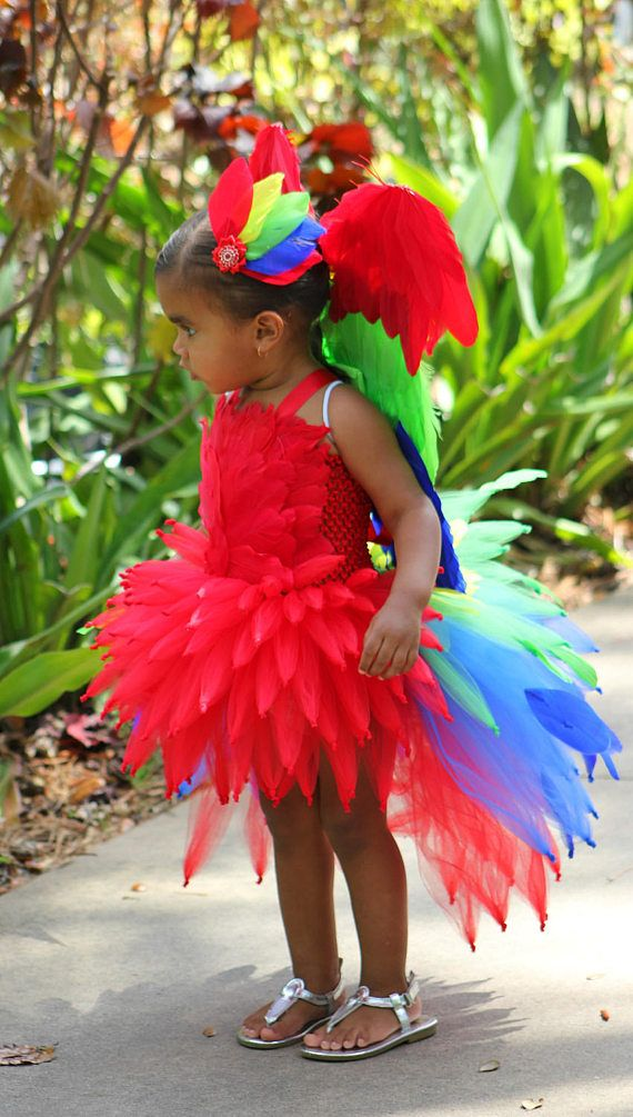 parrot tutu/ parrot tutu dress/ parrot costume/ rainforest