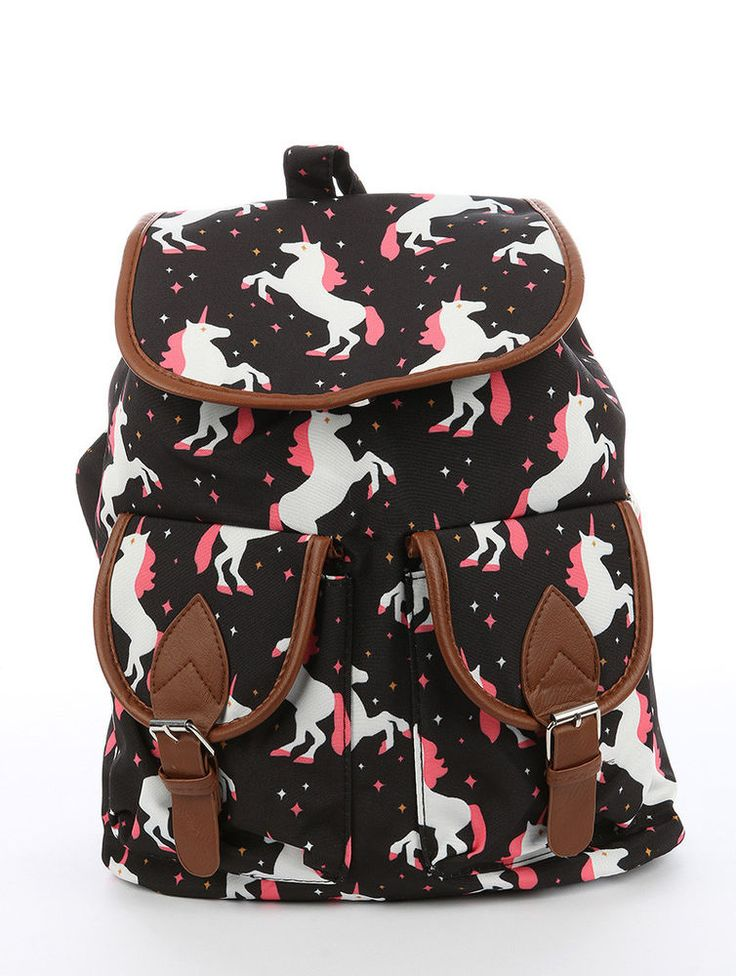 UNICORN PRINT TRAVEL BACKPACK BAG ACCESSORY #Unbranded #Backpack