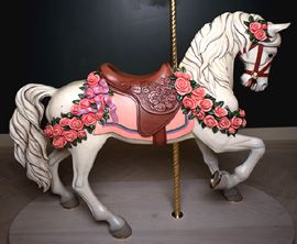 Hand Carved Carousel Horse by Ruth Carroll