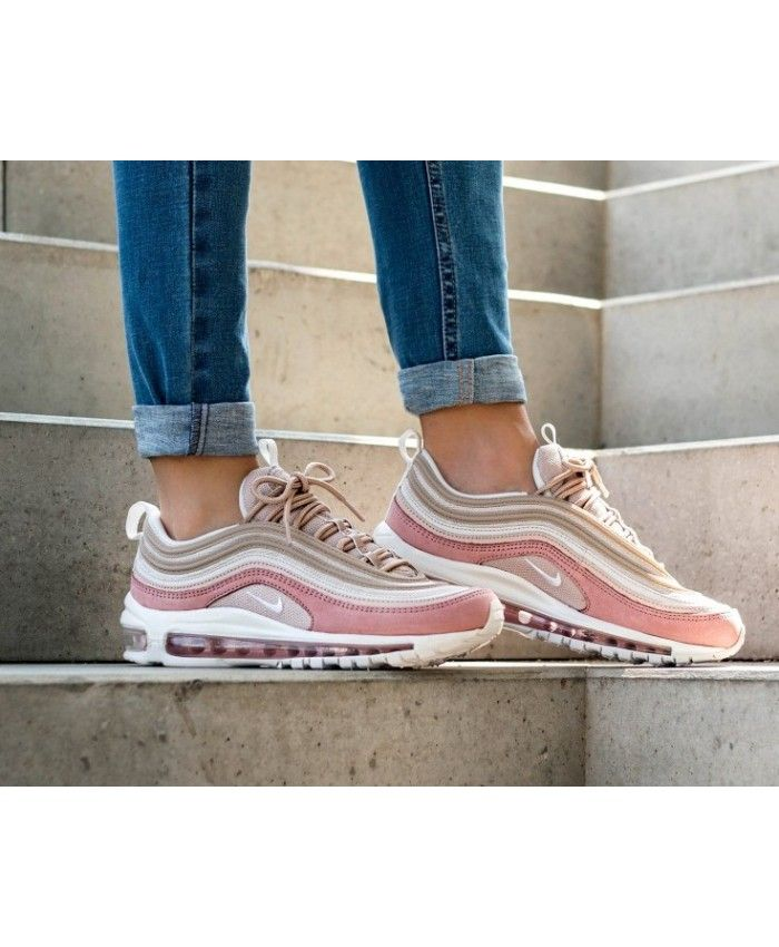 en soldes 46047 8af7f Nike Air Max 97 Beige White Pink Womens Trainers | nike air ...
