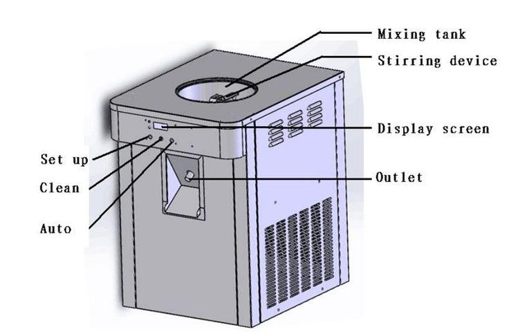 1161.00$  Watch more here  - Hot sale stainless steel hard ice cream making machine Ice Cream Machine