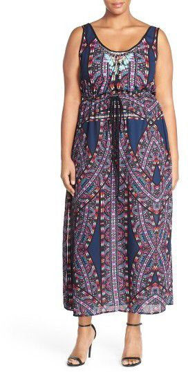 Adorable plus size maxi dress  #plussize #maxidress #affiliatelink