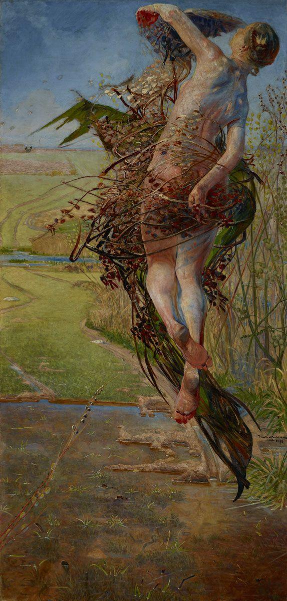 Jacek Malczewski, Wiosna, 1898 #birds #ptaki #kolekcjaMNK #MNKcollection #kolekcja