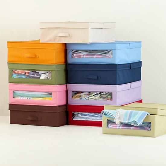 Canvas Storage Boxes For Wardrobes: Kids' Storage: Colorful Canvas Underbed