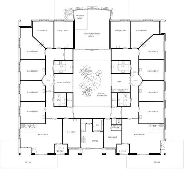 health care, De Wiekslag, Baarn, Netherlands, jorissen simonetti architecten