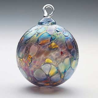 Mt. St. Helens Ash Hand Blown Glass Ornament - Slate - 3'' diameter $22