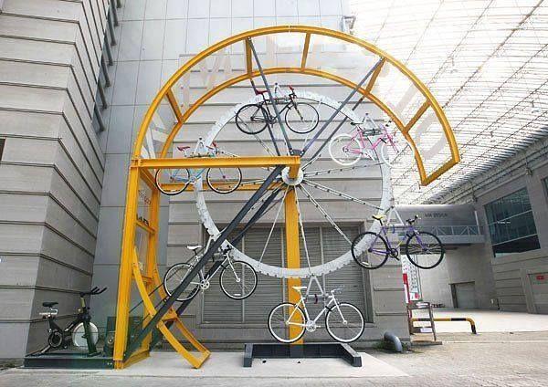 Zekice bir bisiklet parkı
