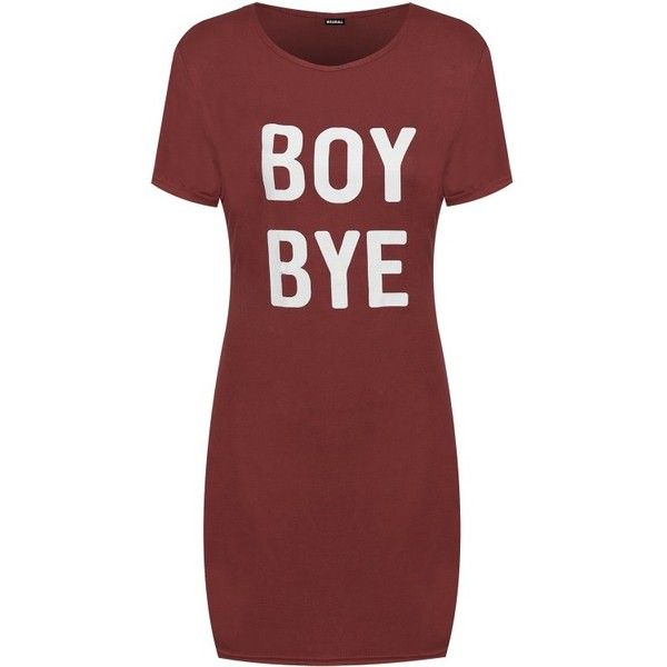 Faith Boy Bye T-Shirt Dress ❤ liked on Polyvore featuring dresses, jackets, shirts, vestidos, red dress, red tee dress, tee dress, t-shirt dresses and t shirt dress
