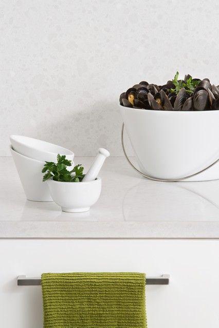 Kitchen Benchtop & Splashback 4600 Organic White