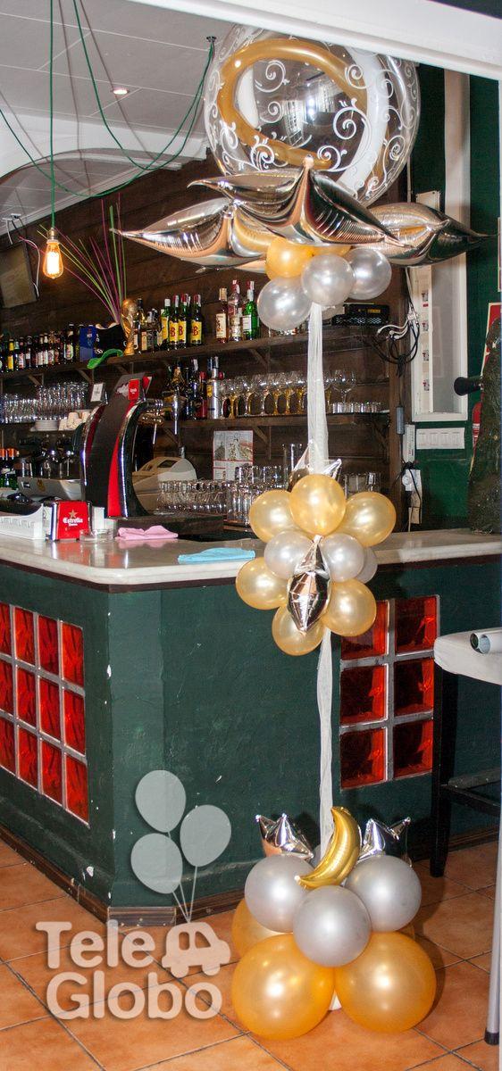 Columna de globos para 60 cumpleaños