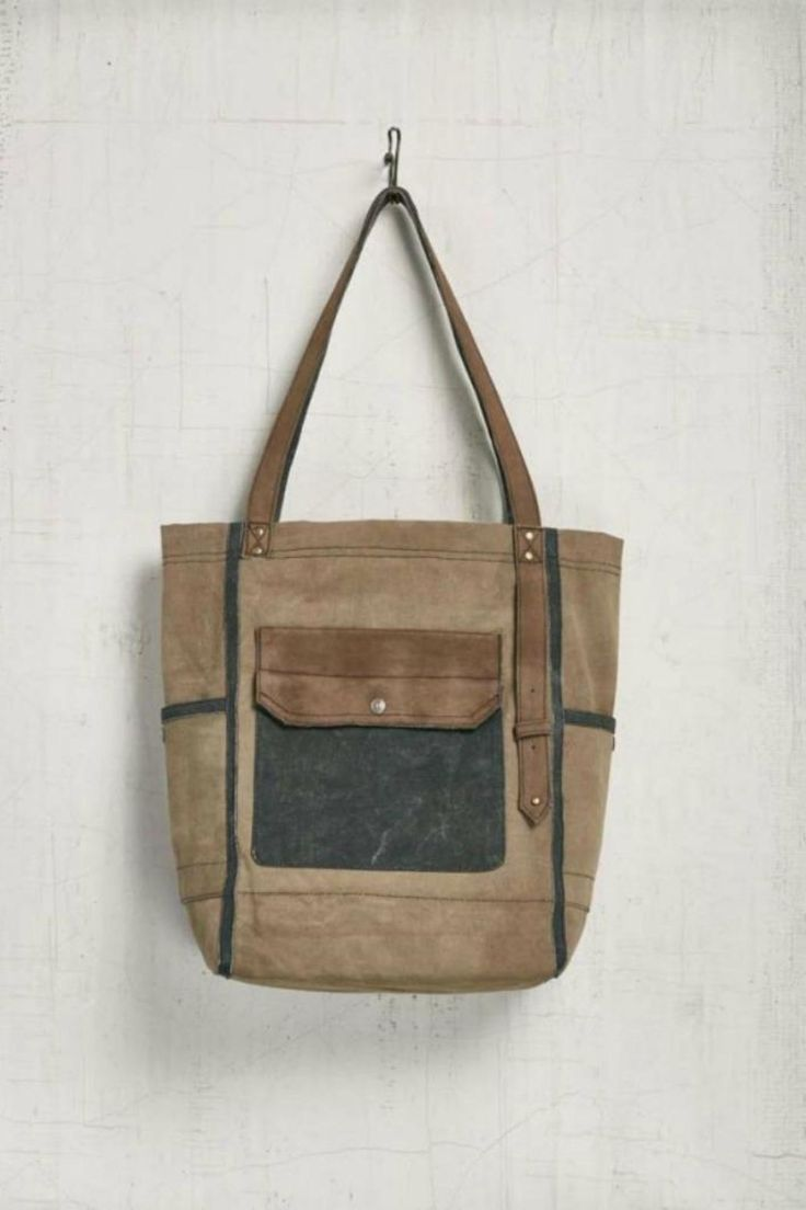"""The Oasis canvas shoulder bag uses a mix of canvas and leather to create a bag perfect for all occasions!    12"""" W x 16"""" H x 6"""" D.13"""" Handle drop.   Oasis Tote Bag by Mona B. Bags - Totes Denver, Colorado"""