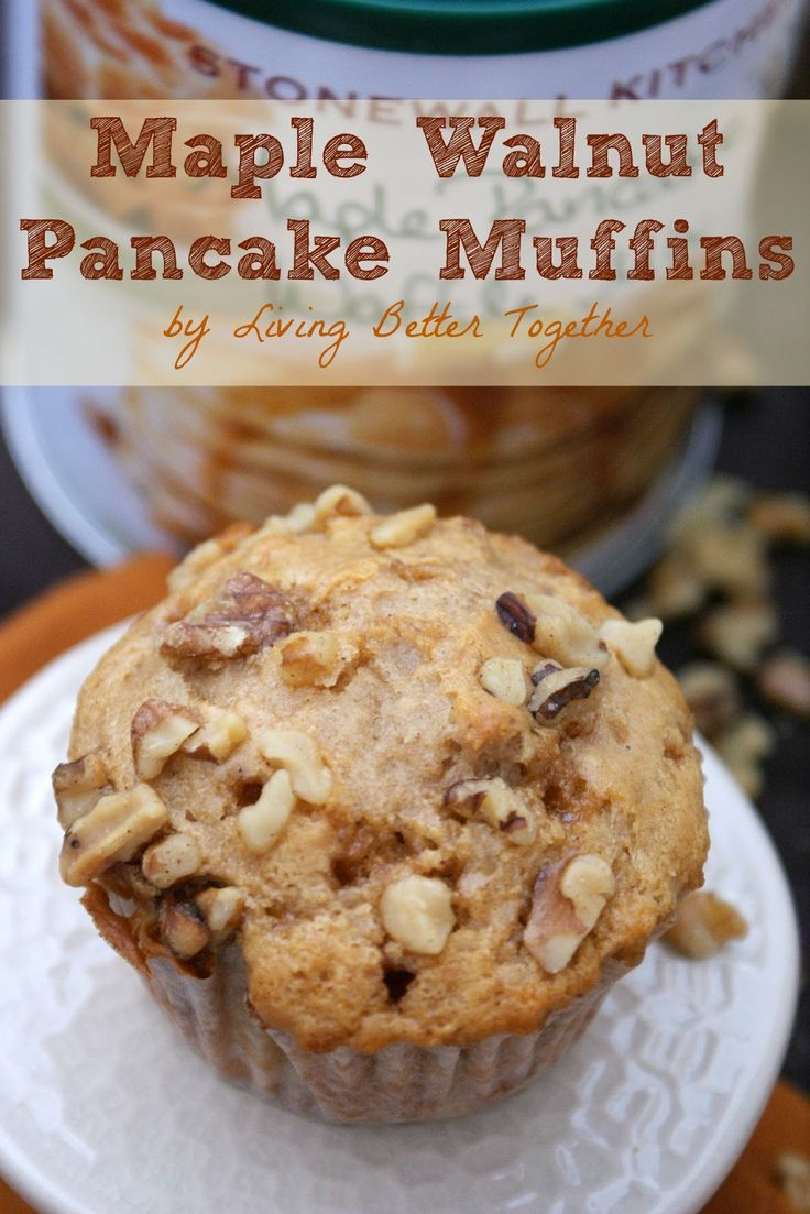 Maple Walnut Pancake Muffins by Living Better Together.