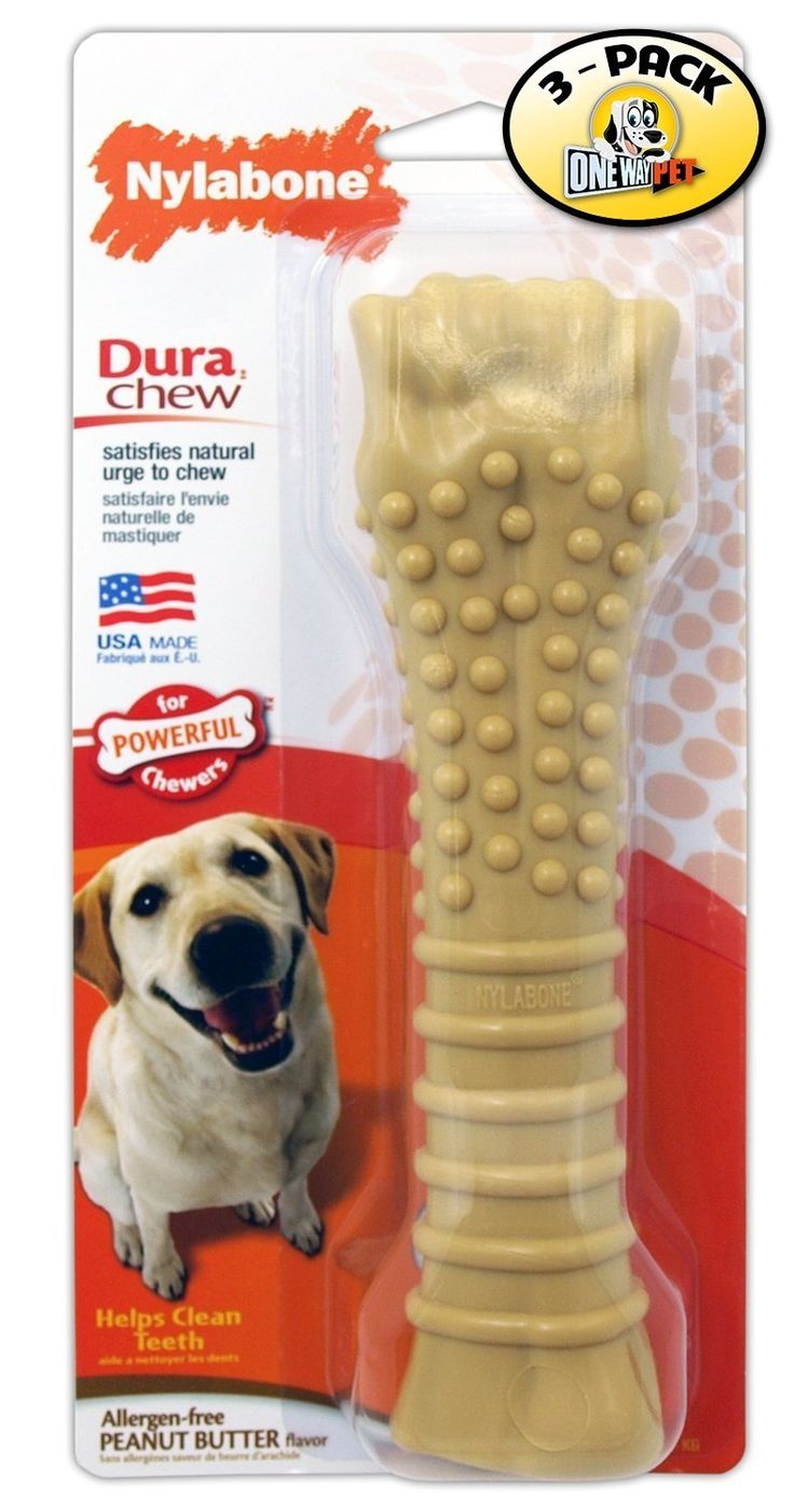Nylabone Dura Chew Souper Peanut Butter Flavored Bone Dog Chew Toy (Pack of 3) ** More info could be found at the image url. (This is an affiliate link and I receive a commission for the sales) #DogCare
