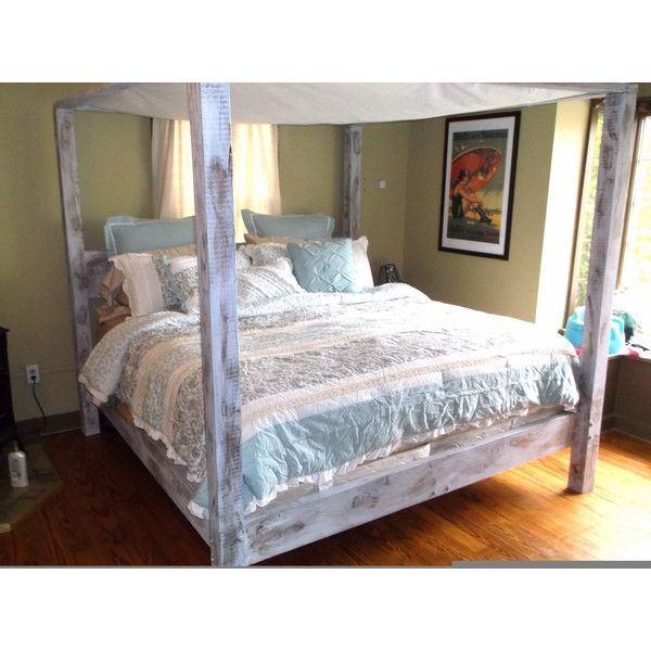 queen canopy bed poster bed shabby chic furniture queen bed frame 1199 liked
