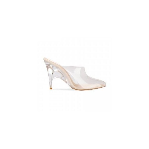 Perspex Heels (113.500 COP) ❤ liked on Polyvore featuring shoes, pumps, clear heel pumps, transparent heel shoes, clear-heel shoes and glass heel shoes