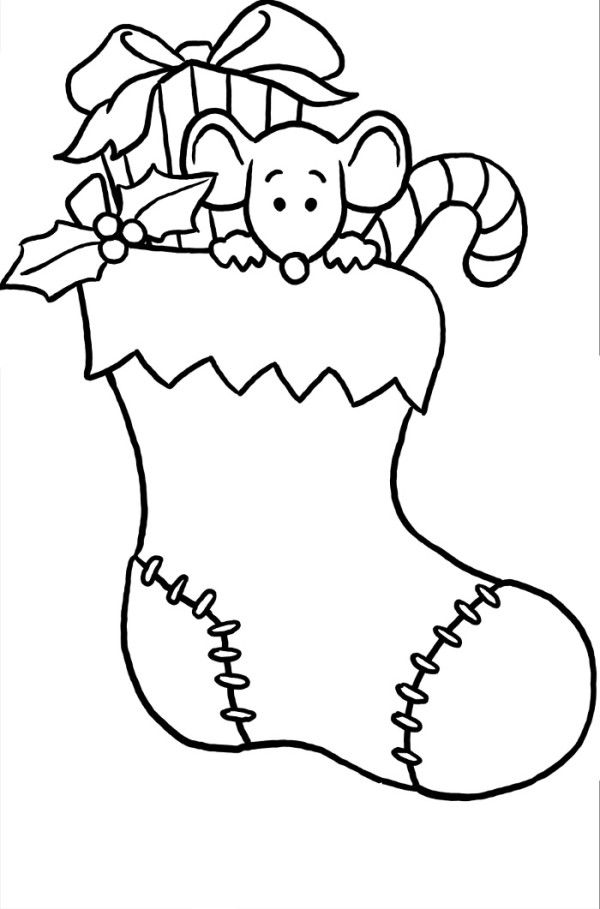 23 best Stocking Coloring Page Printable images on Pinterest