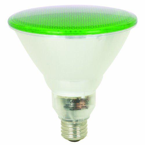 Feit Electric: Feit Electric BPESL23PAR38T/G 23-Watt PAR 38 Outdoor Compact Fluorescent Light Bulb, Green