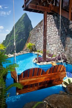 Ladera St. Lucia Resort swimming pool