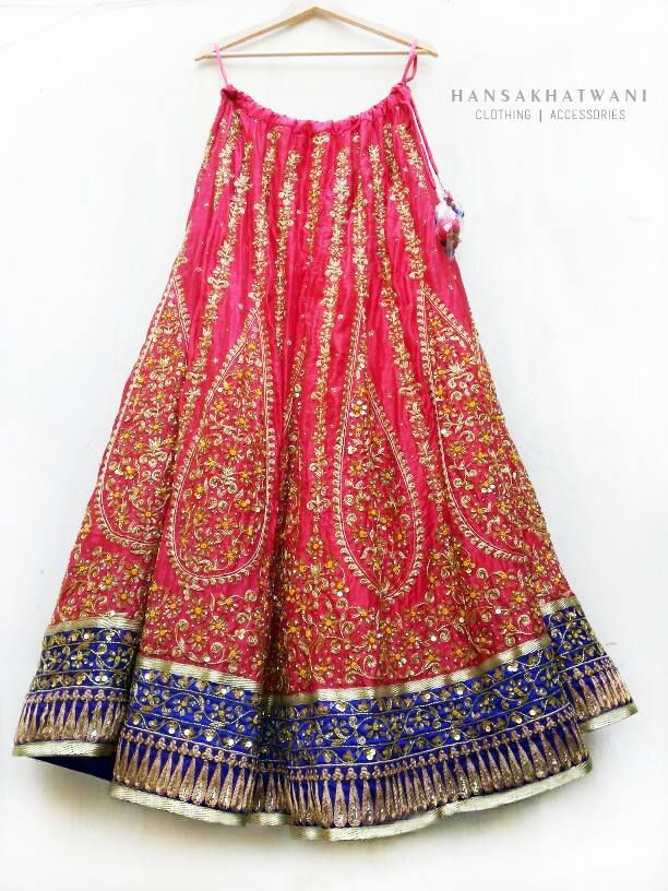 Hansa Katwani Pink Embroidered #Lehenga.