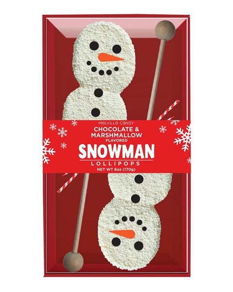 Bring the magic of the winter season with these delicious marshmallow snowmen lollipops. This adorable treat contains 2 giant marshmallows dipped in white chocolate and coated in candy nonpareils. A d