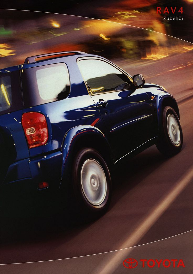 https://flic.kr/p/G7pS5d | Toyota RAV4 Zubehör;  2000_1 | front cover auto car brochure | by worldtravellib World Travel library
