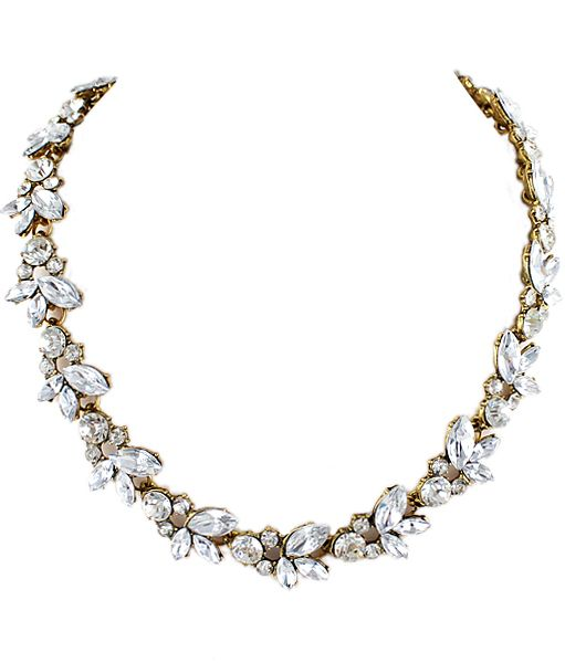 Shop White Gemstone Gold Chain Necklace online. SheIn offers White Gemstone Gold Chain Necklace & more to fit your fashionable needs.