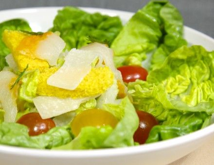 La salade c sar au haddock fum entr e cook angels for Entree sans poisson