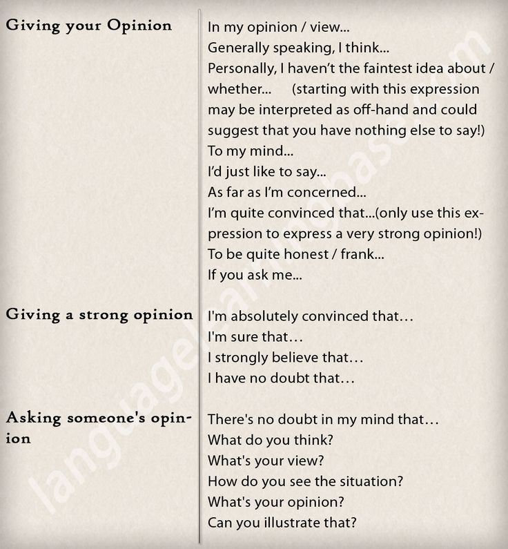 Talking about opinions - #English #communication #vocabulary