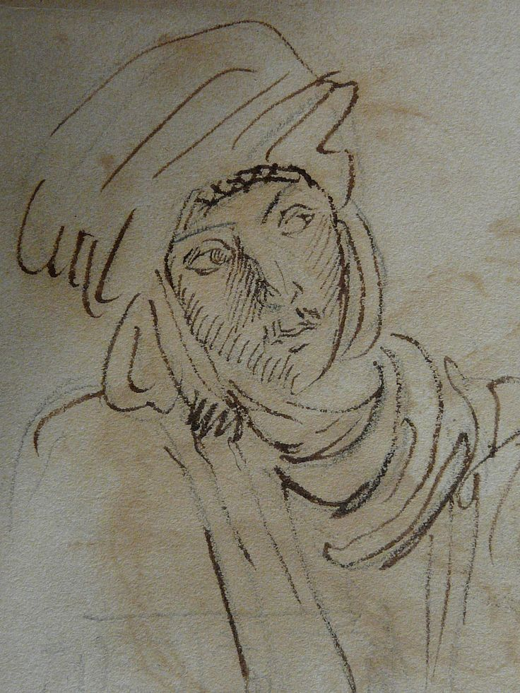 CHASSERIAU Théodore,1846 - Arabe à mi-corps - drawing - Détail 5