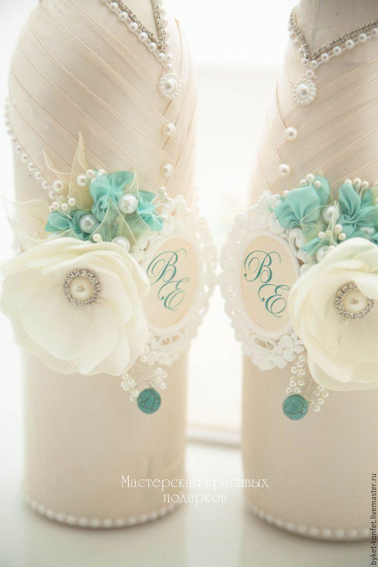 Купить Свадебное набор ''Волшебное очарование'' - свадьба, свадебные аксессуары, бутылки, бутылки свадебные