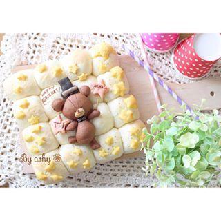 ❁20150906❁ * #誕生日ちぎりパン #バースデーちぎりパン すくすく元気に大きくなあれの 願いを込めて…♡ * ☁︎ ⋆ 。 * ⋆ ☄ ・ * ✩…