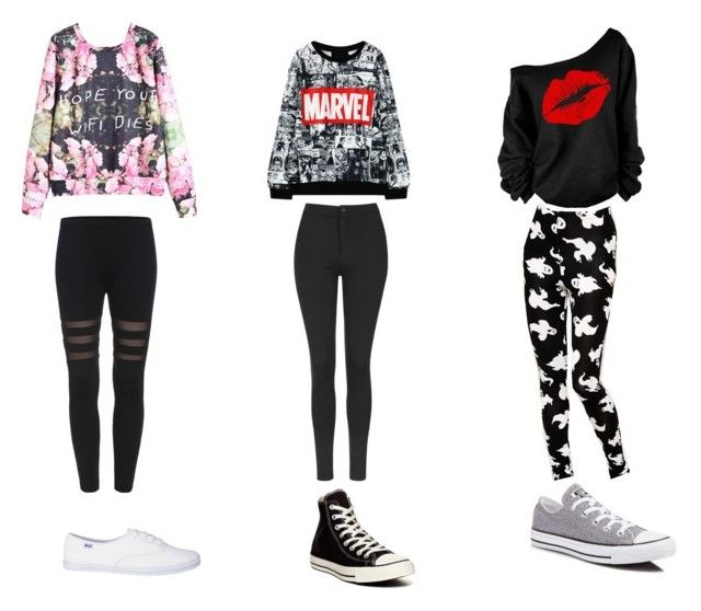 """"""":)"""" by kittyrainbow26 ❤ liked on Polyvore featuring beauty, Topshop, ASOS and Converse"""