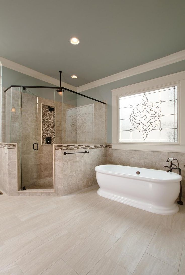 Make Photo Gallery Best Luxury master bathrooms ideas on Pinterest Bathroom flooring Dream bathrooms and Transitional tile