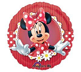 """Red Polka Dots Minnie Mouse Disney 18"""" Mylar Balloon by Anagram. $3.40. Design: Red balloon with white polka dots and Minnie Mouse.. Balloon is double sided. Size: 18"""". Packaged"""