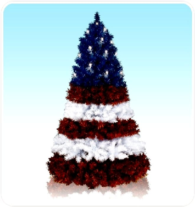 24 best christmas trees red white and blue images on for Unusual artificial christmas trees