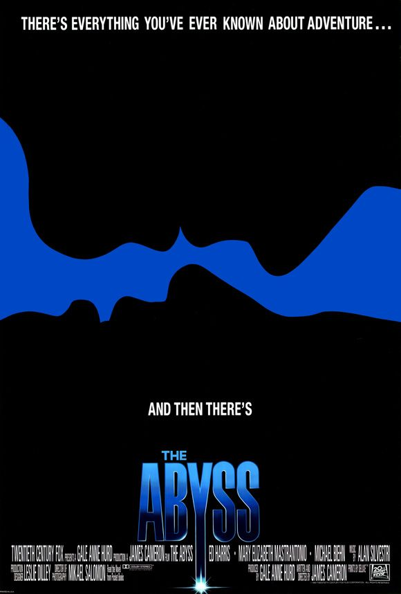 The Abyss , starring Ed Harris, Mary Elizabeth Mastrantonio, Michael Biehn, Leo Burmester. A civilian diving team are enlisted to search for a lost nuclear submarine and face danger while encountering an alien aquatic species. #Adventure #Drama #Sci-Fi #Thriller