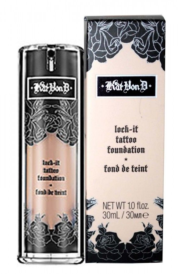 This Kat Von D Lock It Foundation is incredible. If you haven't seen her Sephora campaign where she uses it to cover all of her tattoos it is a must to check out. This foundation provides complete coverage, no shine, no clogging...best foundation I have ever used.