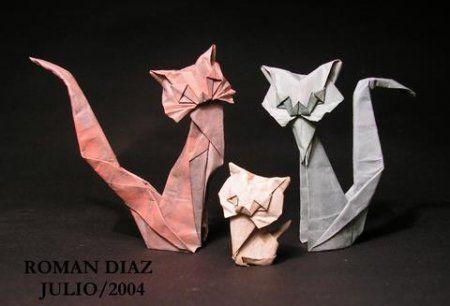 Оригами кошка из бумаги: схема и ход работы от Roman Diaz