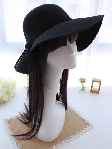 New Vintage Women Lady Wide Brim Wool felt Bowler Fedora Hats Floppy Cloche Cap Black+free gift Crazycity http://www.amazon.com/dp/B00EOH0D48/ref=cm_sw_r_pi_dp_mYuZtb01NWADMJEP