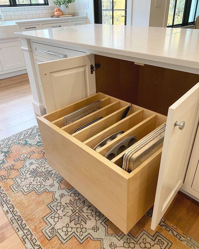 Pull Out Sheet Pan Drawer My Favorite Thing About My Kitchen Is Our Pull Out Sheet Pan Drawer I Wa Kitchen Cabinet Design Kitchen Design Clever Kitchen Storage