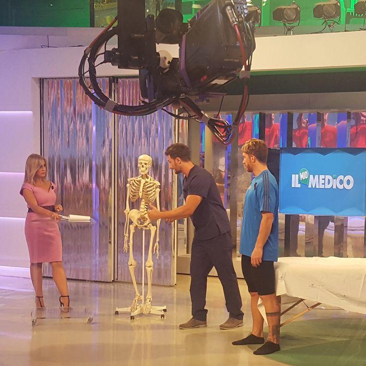 """#monicadiloreto e #massimociocchetti con il dr #gabrielebenedetti 🎬❤ nella trasmissione tv """"il mio medico"""" 📺 diretta! 🎬 #tv2000 #sky"""