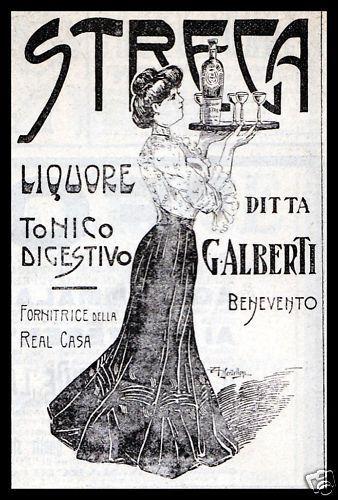 BENEVENTO LIQUORE STREGA ALBERTI DONNA LIBERTY 1908