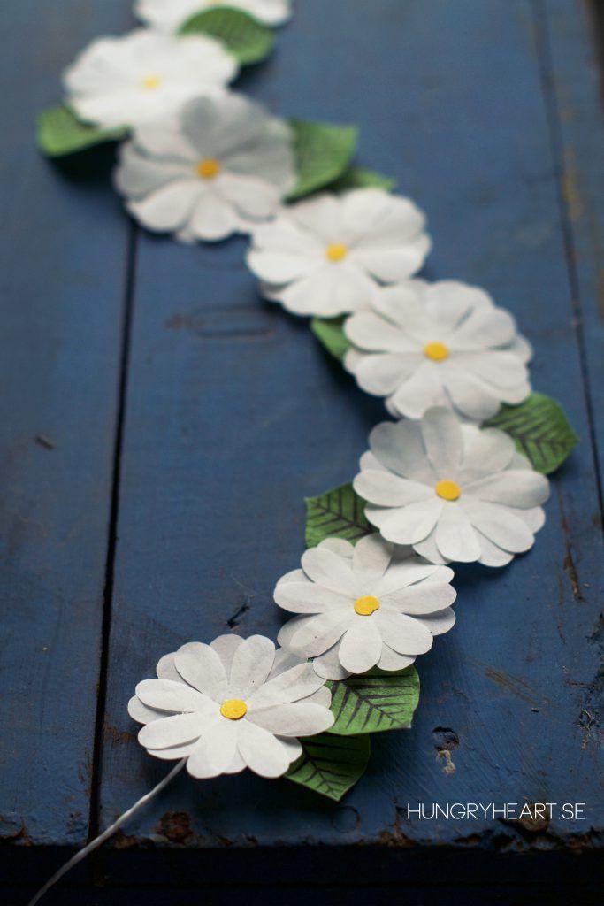 DIY Paper Flower Crown Tutorial | HungryHeart.se