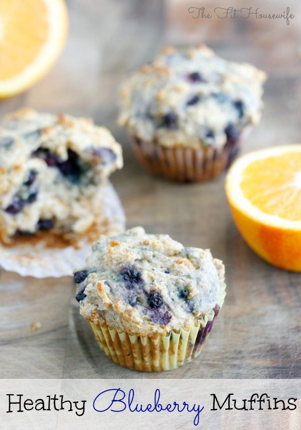 Healthy Blueberry Muffins #recipe #muffin #healthy
