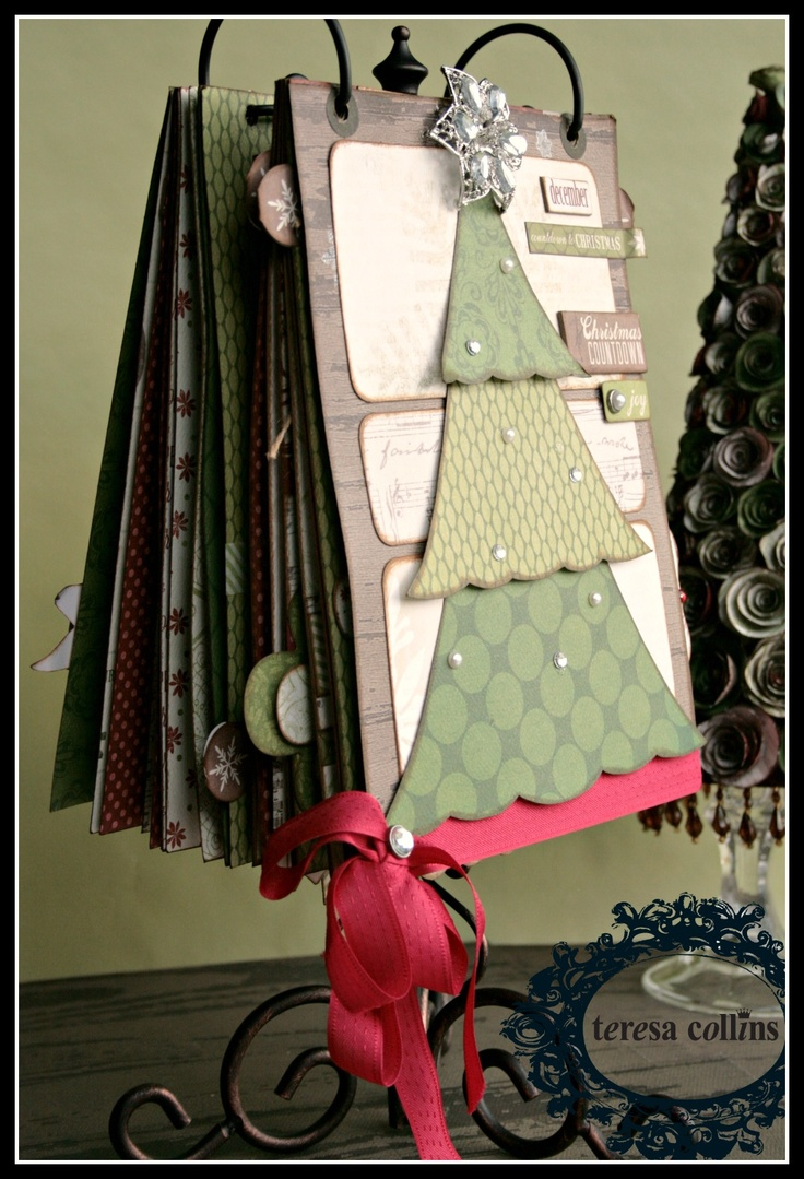 TERESA COLLINS DESIGN TEAM: Christmas Cottage Coundown flip album by Cheri Piles Part 3